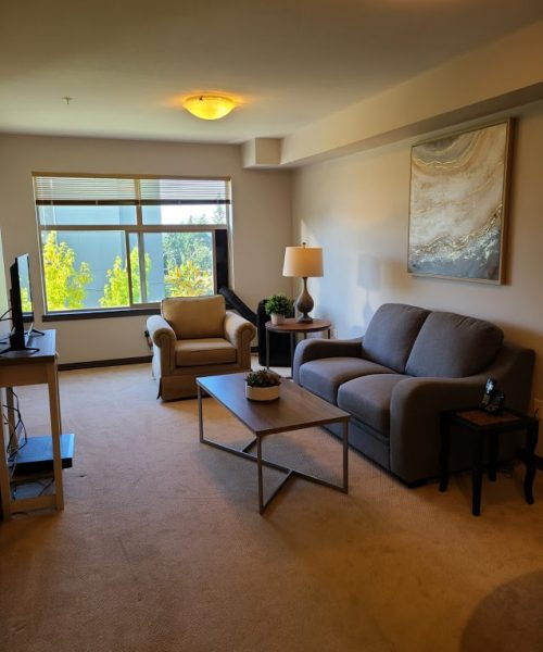 A homey, minimalistic set up for a new resident at Pacifica Retirement Residence. We hope they enjoy the new place!